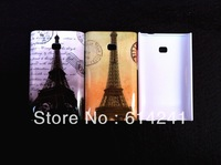 Eiffel Tower Retro Camera Cute Cartoon Animal Pattern New Style Plastic hard Case Cover  for LG E400 / Optimus L3