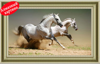 Free shipping Wholesale retail DIY diamond painting diamond cross stitch kit Inlaid decorative painting Horse DM1203074