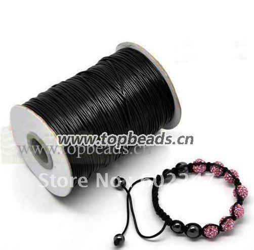Valentines Gift, Free Shipping, Korean Wax Nylon Cord, Shamballa cord Wholesales 1.5mm, 160m/roll(China (Mainland))