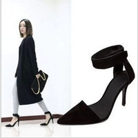 2013 new fashion Closed Toe Women Pumps Pointed toe Ankle Strap Heels party High Heels ankle pumps Free Shipping