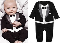 RP0004 Free shipping baby boy's gentleman modelling romper long sleeve climb clothes for infant kids outwear retail