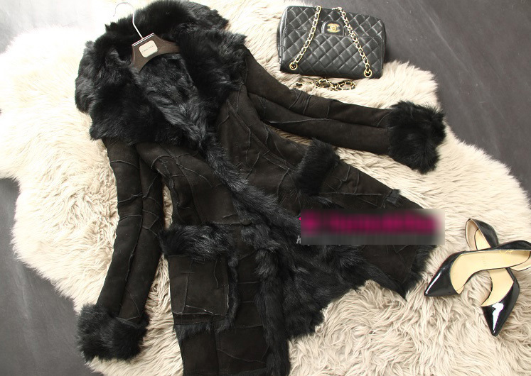 New Fashion Winter Warm Genuine Lamb Fur Coat With Natural Sheepskin Leather Jacket For Women Long Luxur
