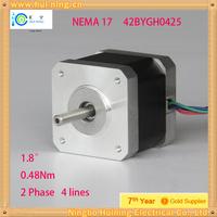 4-lead Nema 17 Stepper Motor  2.5A  0.48Nm   3d printer machine