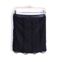 2013 women's slim tassel patchwork bust slim hip Skirt black Freeshipping 10pcs