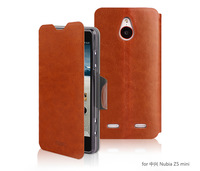 Flip Stand MOFI Luxury PU Leather Cover For ZTE Nubia Z5 Mini NX402 Case Magnetic Snap +Screen Protector Free Shipping