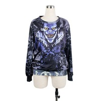 SEXY 2013 Fashion 3D Galaxy Hoodie Devil Pullover Hoody Sweatshirt Digital Printing Sweater For Women S117-407