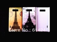 Eiffel Tower Retro Camera Cute Cartoon Animal Pattern New Style Plastic hard Case Cover for  for LG P705 Optimus L7