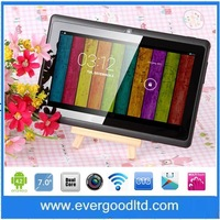 The  Latest cheap Q88pro 7inch Allwinner A23 Dual core Tablet PC Android 4.2.2 1.5GHz RAM 512MB ROM 4GB Dual Camera WIFI OTG