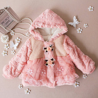 Clothing winter outerwear female child faux overcoat thickening cotton-padded jacket fur child cotton-padded jacket wadded