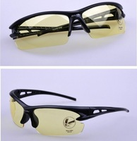 2014 Wholesale  Promotional Man Sports Sunglasses Cycling Sun Glasses PC Frame AC Lens Fishing Glasses Driving Glass
