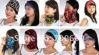 100 pcs/lot Express Free Shipping Multifunctional Printed Seamless Bandana, Magic Headbands for women, Wholesale, WLE086