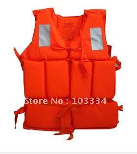 Foam life vest jacket fishing inflatable boat swimming life saving vest with rescue Whistle For Adult child children water sport(China (Mainland))