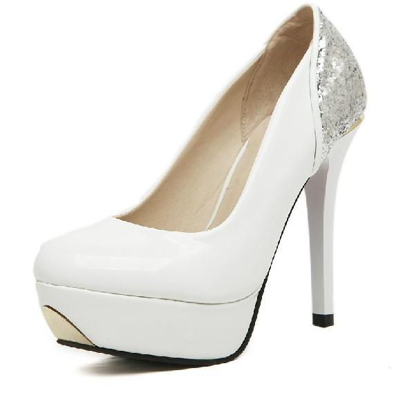 Free shipping 2014 new Korean fashion magazine devaluation Princess wedding shoes high heels women shoes(China (Mainland))