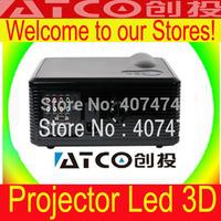 full hd 3d led projector 1080P DLP led portable mini Projector Native SVGA 800*600 support XGA 1024*768,720P,1080P 2500lumens