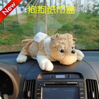 Free Shipping Cute Carton Lint Tissue Box Creative Dog Car Paper Tray Automotive Interior Tissue Box Accessories - 4 Colors