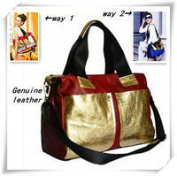 100% Genuine leather Women Shoder Bag Gold Lacquer 2014 New Designer Messenger Bag YX1237 Free Shipping