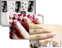 50 Sheet Mix Color Floral Design 3D Nail Art Stickers Decals Manicure Nail Art Decoration 11812 F