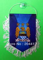 MANCHESTER CITY FC SOCCER MINI BANNER FLAG PENNANT BLUE #01