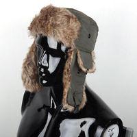 Men Women Winter Russian Trapper Bomber Aviator Trooper Earflap Snow Ski Hat Cap
