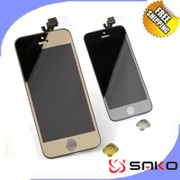 Free Shipping Colorful LCD Display For iPhone 5 +Touch Screen digitizer+Frame assembly Glod/Silver
