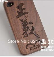 Genuine Tree Natural Real Bamboo Wood Wooden Hard Cover Case for iPhone 5 5s Custom Design and Free Shipping capa celular