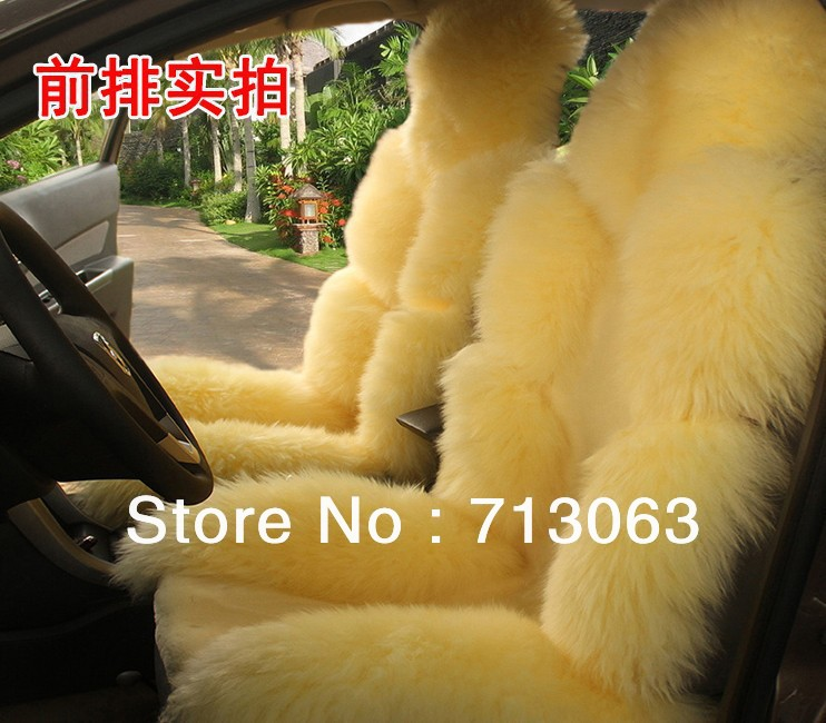 Free shipping whole set Car Seat Cushion Wool Plush Auto Covers & Supports Interior Accessories GM Seat Covers & Supports(China (Mainland))