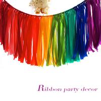 Garland wedding birthday decoration ribbons ribbon tassel decoration 1m*0.35m