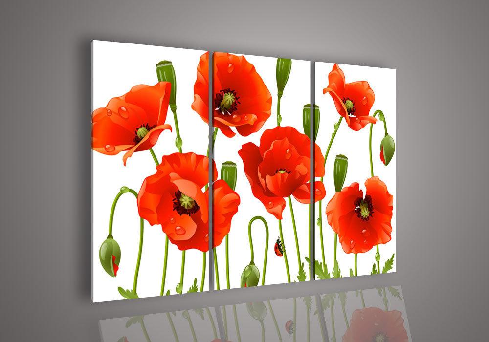 Piece wall art no framed modern abstract font b acrylic b font flower