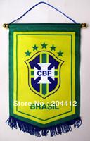 5 STARS BRAZIL BRASIL NATIONAL SOCCER TEAM BANNER FLAG PENNANT #34