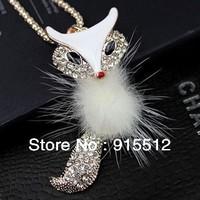 2014 Hot Sale Fashion Free Shipping Fox Chain Small Animals Ornaments Necklace Pendant