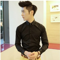 Dark placket Polo Shirts 2013 New Arrival Fashion Slim Brand Winter Men Casual Dress shirts Free Shipping S2640