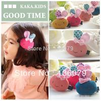 a lot of clours rabbit clips for girls Children head dress children hair accessories
