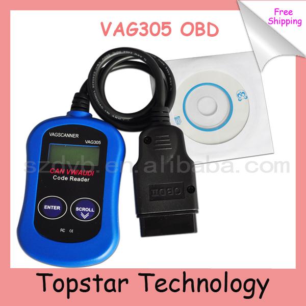 2014 Hot Selling Car Diagnostic Tool OBD 2 OBD II VAG305 OBD CAN VAG Scanner Code Reader SRS ABS K-Line Device for Car Bus(China (Mainland))