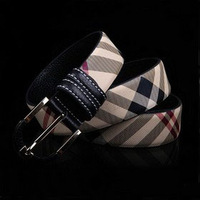 Brand Men's Casual Unisex Classic fashion stripe canvas stripe Belts free shipping plaid cowskin designer men's belts