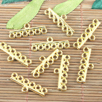 60pcs gold tone 6 hole connector H3668-G