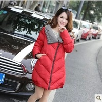 Free Shipping Autumn Winter Fashion Maternity Wadded Jacket Maternity Hooded Plus Size Cotton Padded Overcoat Women