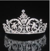 Wedding/Bridal crystal veil tiara crown headband CR187