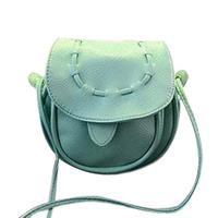 Free Shipping Korea women Girls Handmade Musette Drum Leather Bag Pattern Small Shoulder Bag mini Messenger Handbag