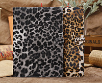 Wholesale Item Leather Case for iPad Air Leopard pattern Luxury Leather Cover ,20pcs/lot,DHL Free Shipping