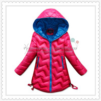 Casual down jacket for girls winter outwear with cap child clothing SCG-1031D Free Shipping 2013 New Russian Support