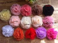 """2"""" Mesh Flowers Mini Mesh Flower Head Flat Back Flower Hair Accessories 200PCS/LOT BY Angel Baby Headwear"""