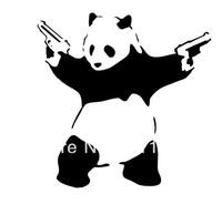 Free Shipping Home Decor Cool Guner Panda wall Decor Boy bedroom Wall stickers
