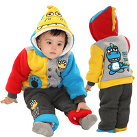 Cute Dinosaur Baby  Clothing Sets Winter 2pcs set for boys and girls