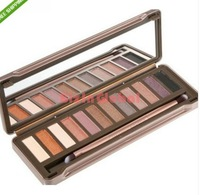 192 set X NK 12 Color Iron Box Eye Shadow Makeup Eye Shadow Palette With Brush Sets Kit New  High quality Free shipping