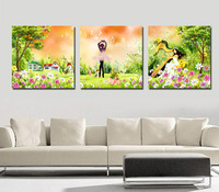 For dec  orative painting picture frame trippings mural child real paintings wall painting decorative painting music