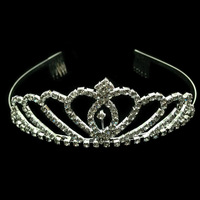 Free Shipping Best Selling Fashion Heart Rhinestone Bridal Crowns Tiaras Hair Combs for Wedding