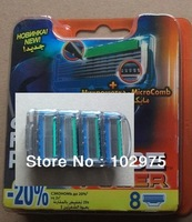 FPP8 EU/RUS packing men's shaving razor blades, 8 pieces=1pack=1lot, free shipping to all countries