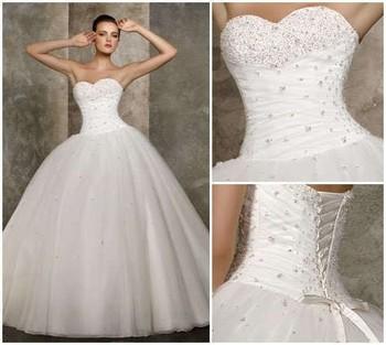 Дешевые цена! 2015 новый бесплатная доставка линии милая бисероплетение белый / слоновая кость свадебные платья вл 2039 в наличии