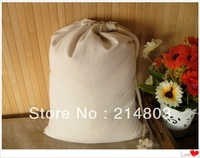 37x47cm natural cotton drawstring bags with custom logo  free shipping
