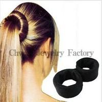 SALE Free Shipping  2pcs/set hair accessories Hair Roller Magic hair bands for women elastic hair ties Head Balls Disk Headband